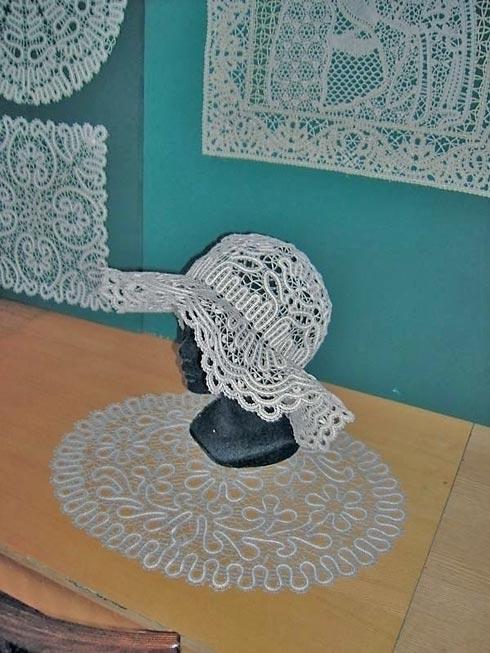 Кружевная шляпка
