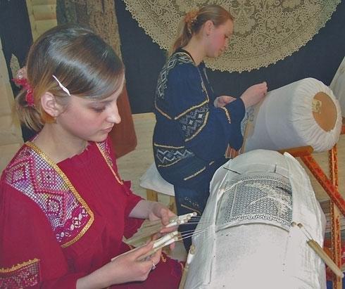 Кружевницы на выставке-ярмарке «Российский лен - 2007»